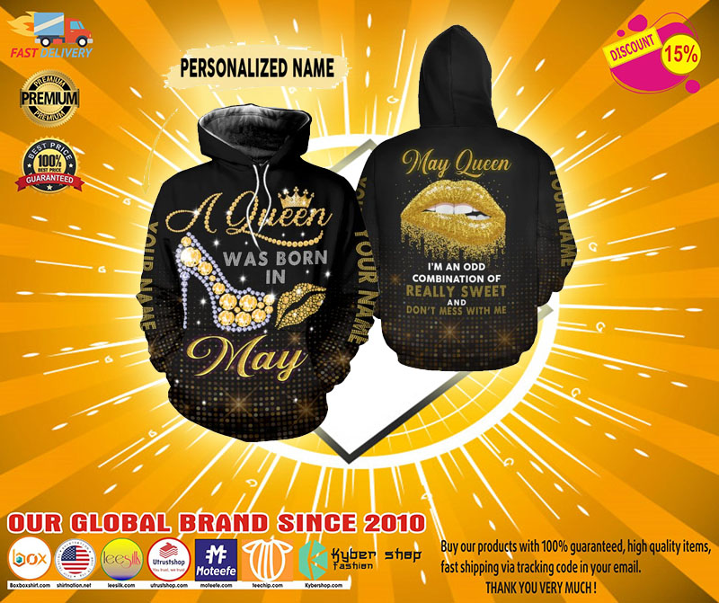 May queen really sweet and dont mess with me custom name 3D hoodie and legging3