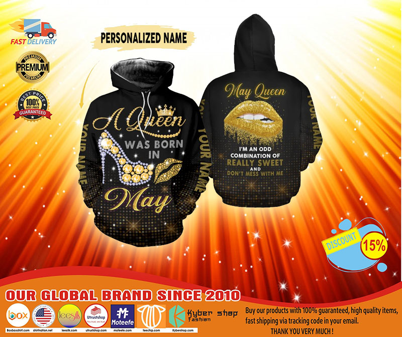 May queen really sweet and dont mess with me custom name 3D hoodie and legging4