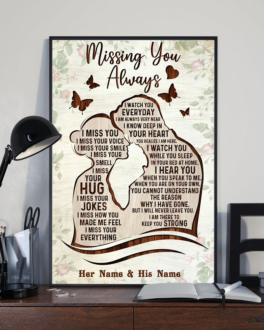 Missing you always custom name poster2