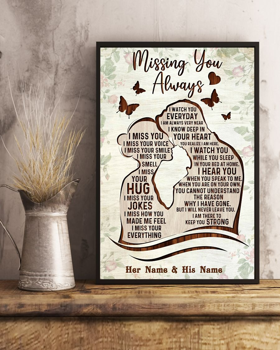 Missing you always custom name poster3