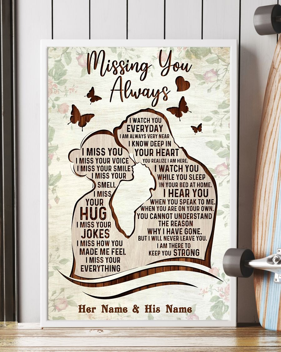 Missing you always custom name poster4