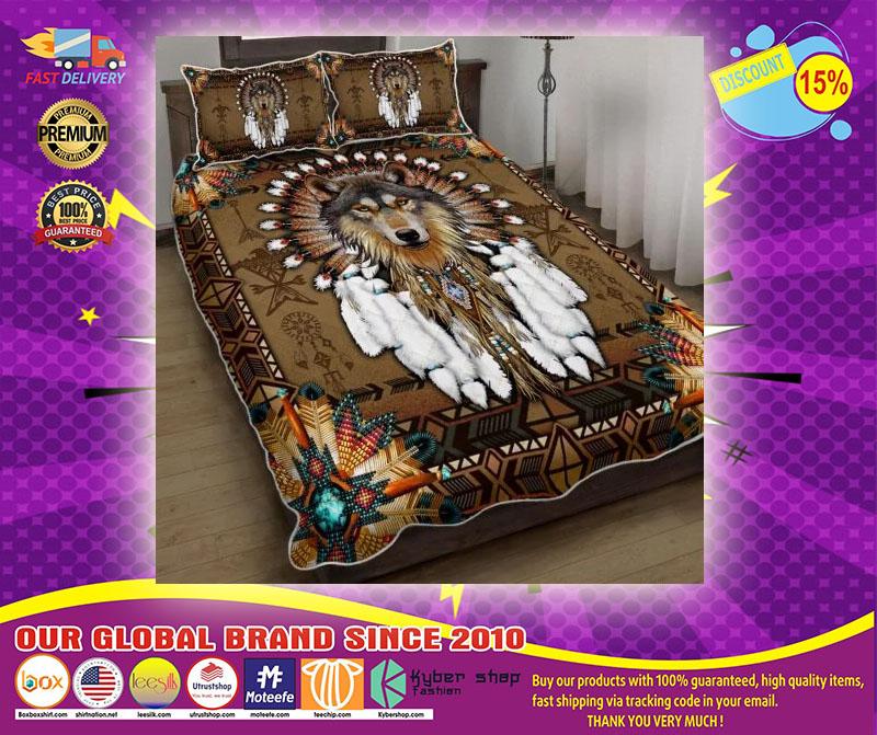 Native american wolf spirit bedding set1 1