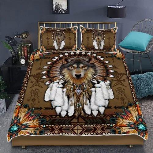 Native american wolf spirit bedding set2 1