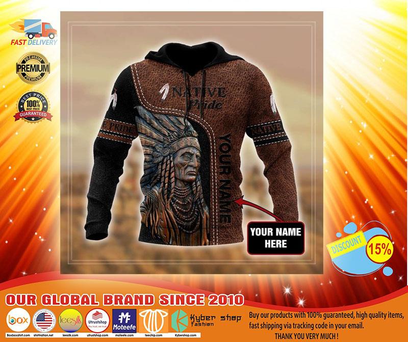 Native pride custom name 3D hoodie1