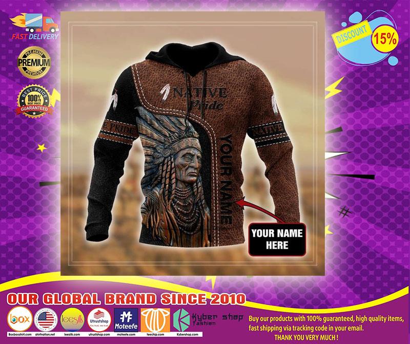 Native pride custom name 3D hoodie2