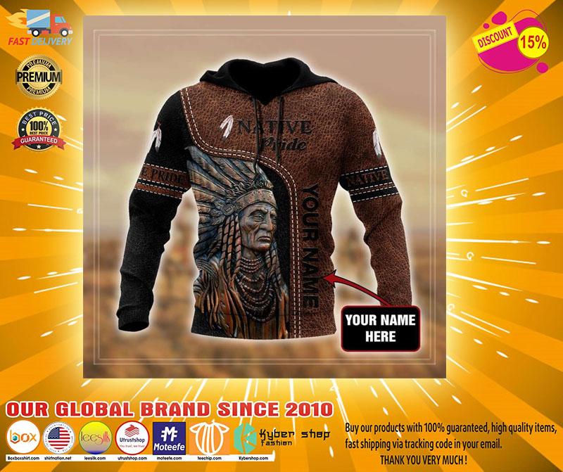 Native pride custom name 3D hoodie4