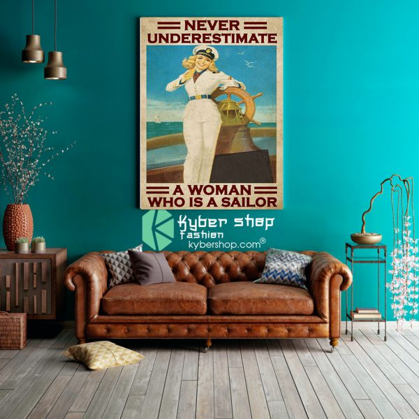 Never underestimate a woman who is a sailor poster8