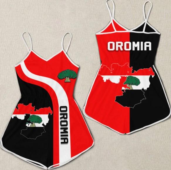 Oromia flag maps 3D hoodie romper