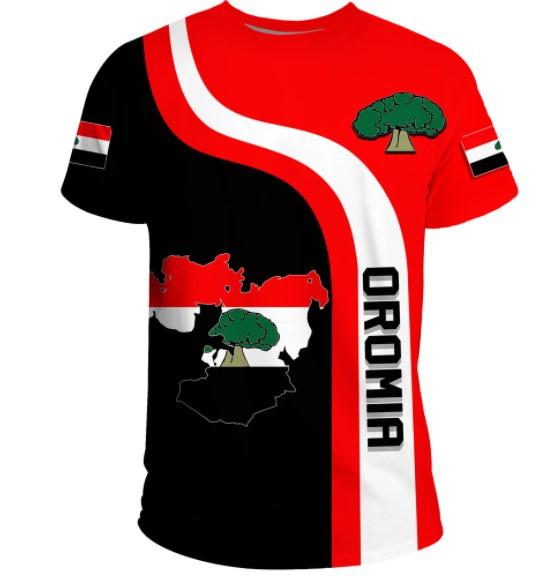 Oromia flag maps 3D hoodie shirt