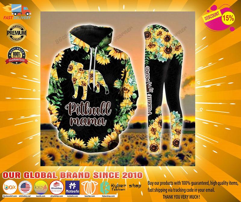 Pitbull mama Sunflower 3D hoodie and legging21