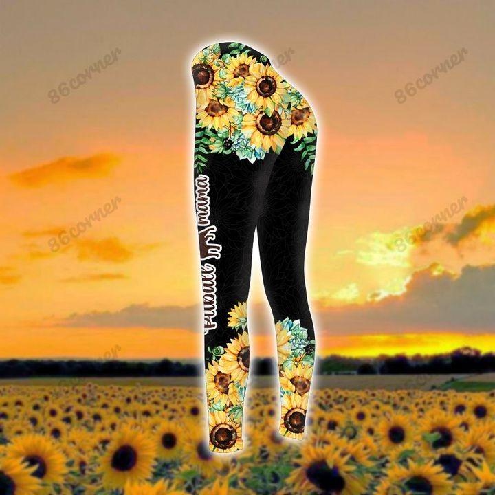 Pitbull mama Sunflower 3D hoodie and legging3 1