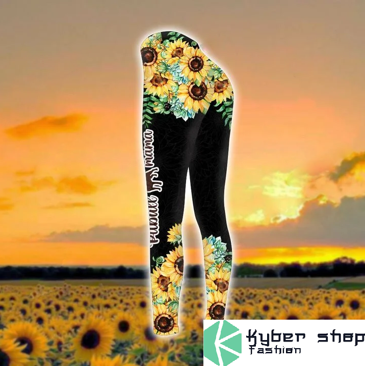 Pitbull mama sunflower 3d hoodie and legging3