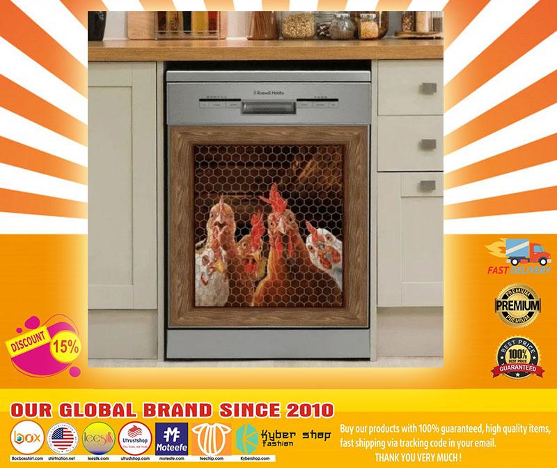 Rooster chicken decor kitchen dishwasher4