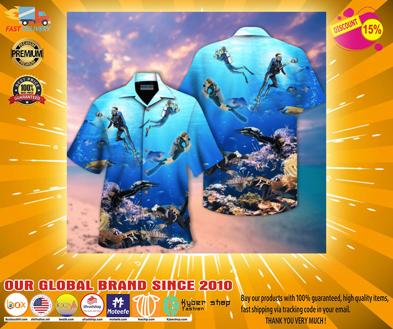 Scuba diving hawaiian shirt2