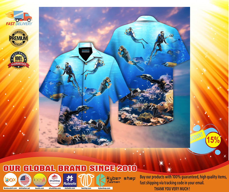 Scuba diving hawaiian shirt3