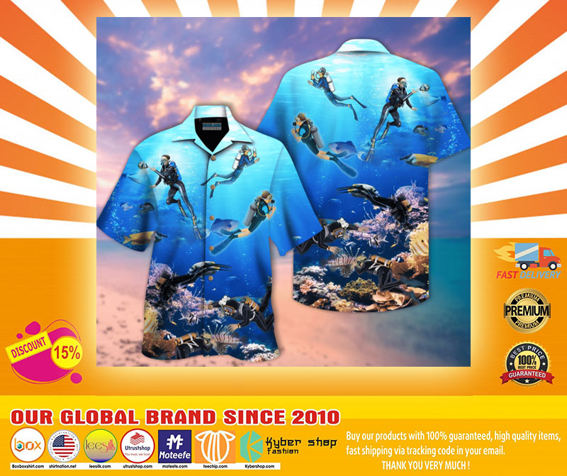 Scuba diving hawaiian shirt4