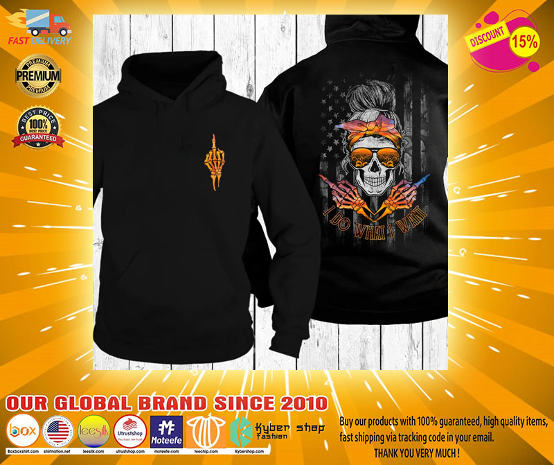 Skull I do what I want sunset beach 3D hoodie2