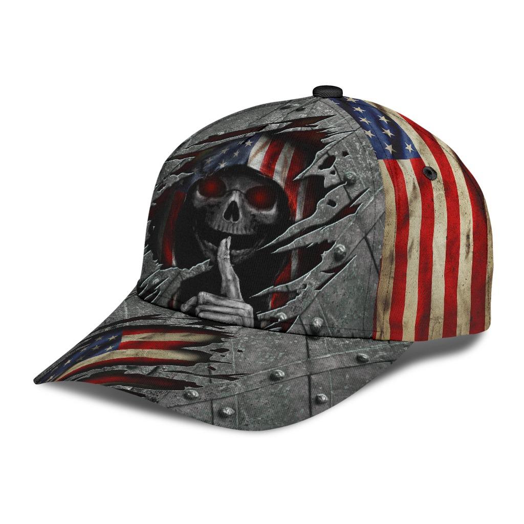 Skull american flag cap2 1
