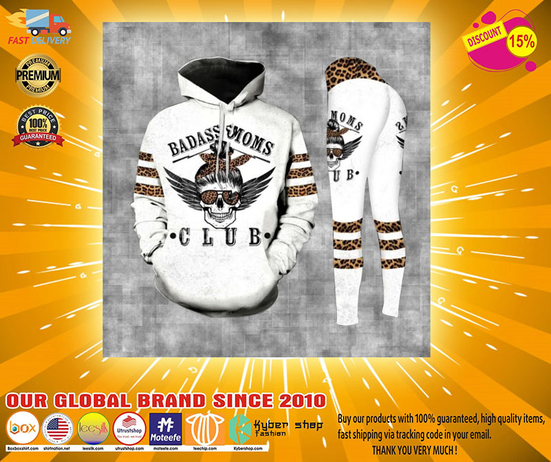 Skull badass moms club 3D hoodie and legging4