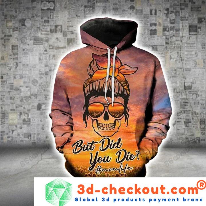 Skull but did you die 3D hoodie and legging2