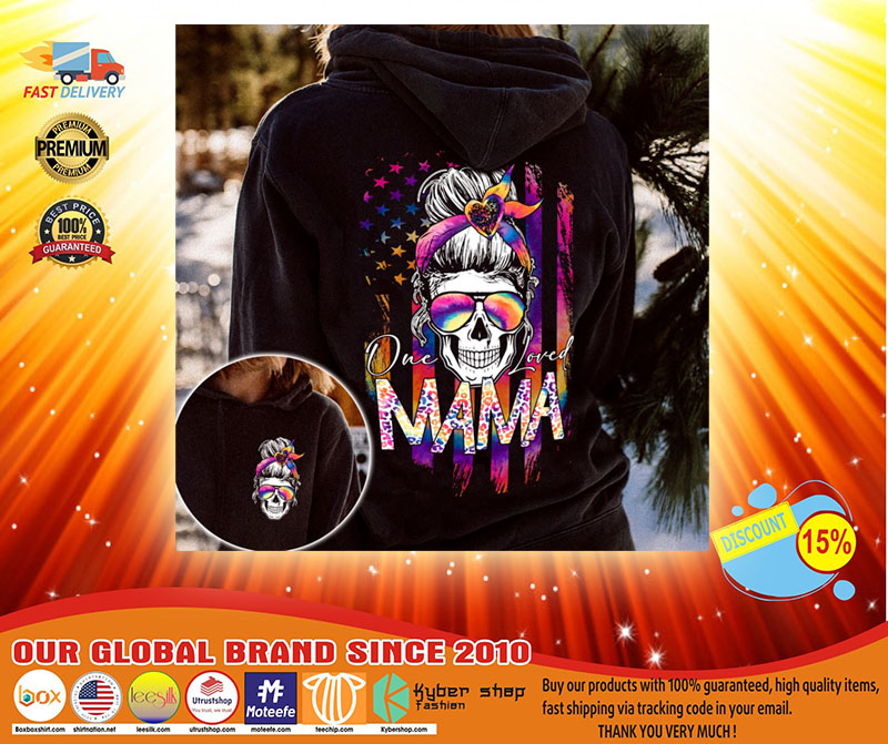 Skull colorful one loved mama 3d hoodie3