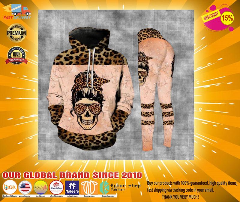 Skull leopard bad moms club 3D hoodie and legging4