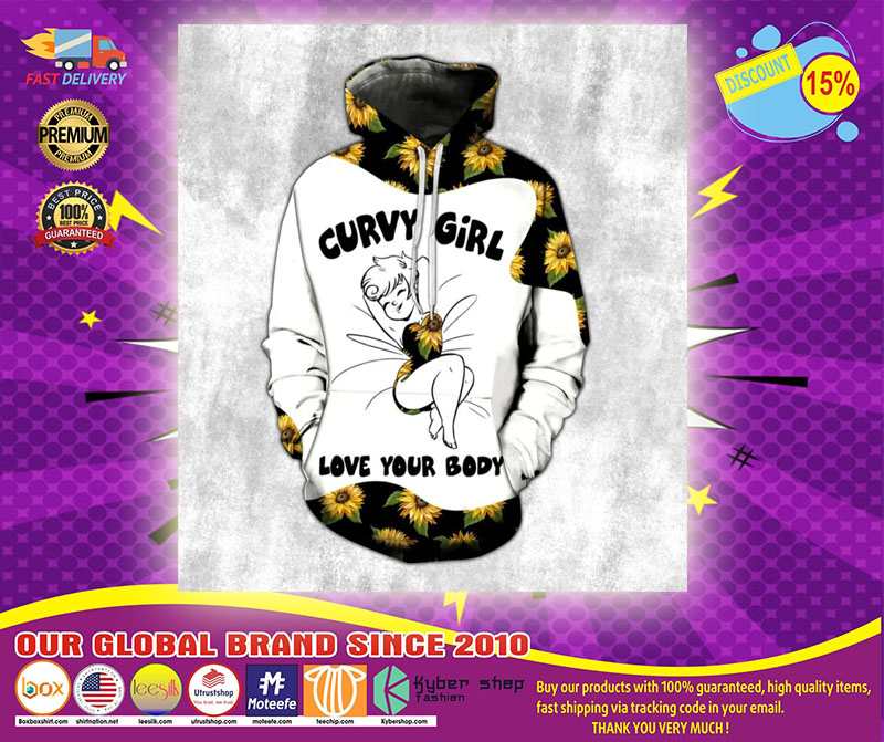 Sunflower Curvy girl love your body 3d hoodie and legging3