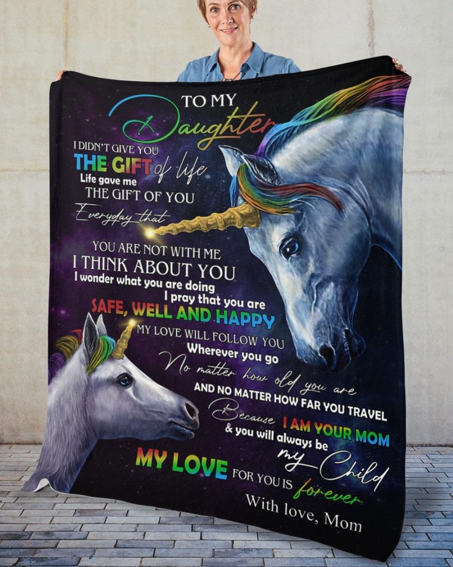 Unicorn to my daughter blanket4