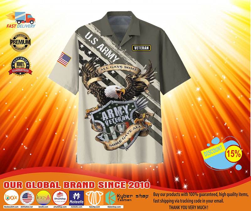 Veteran eagle US army all gave somehawaiian shirt3