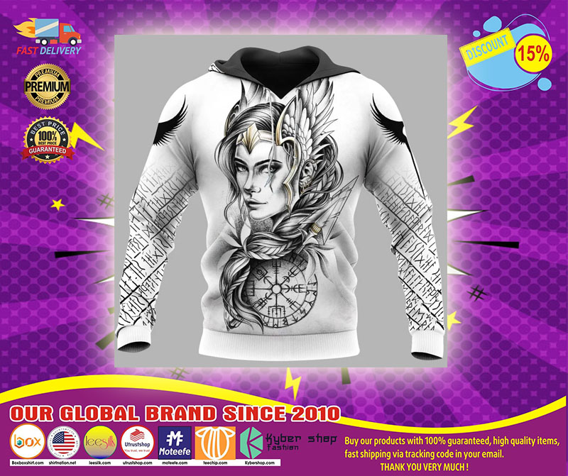 Viking Goddess freya 3D hoodie1
