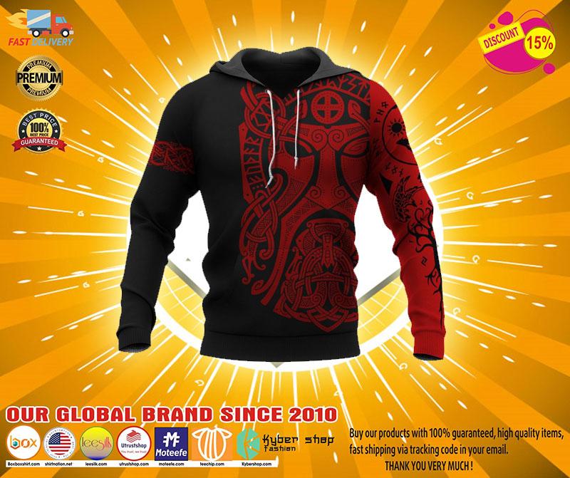 Viking Odin art 3D hoodie2
