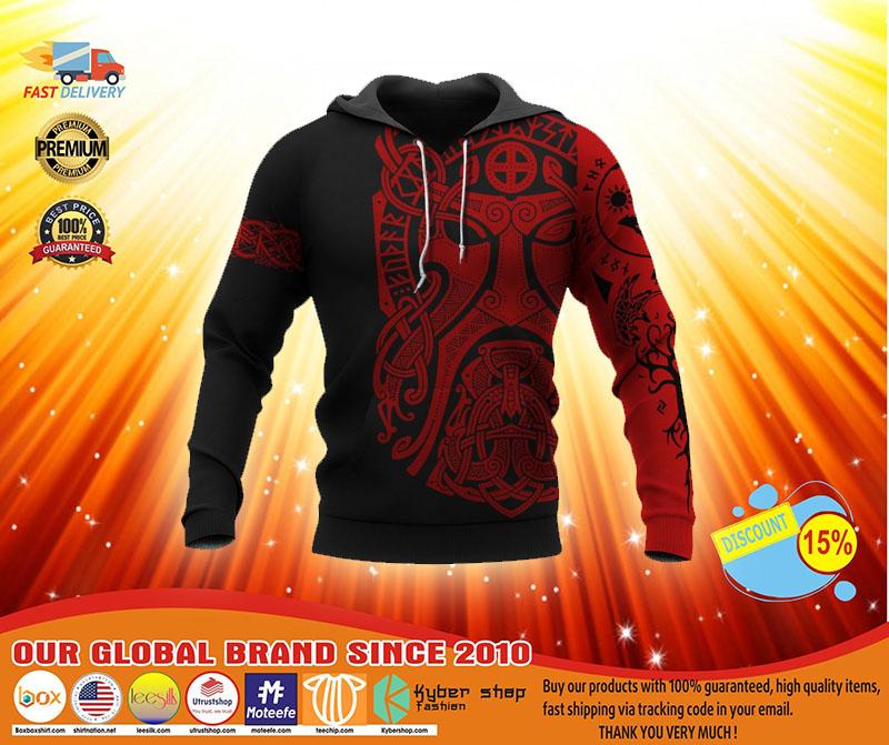 Viking Odin art 3D hoodie3