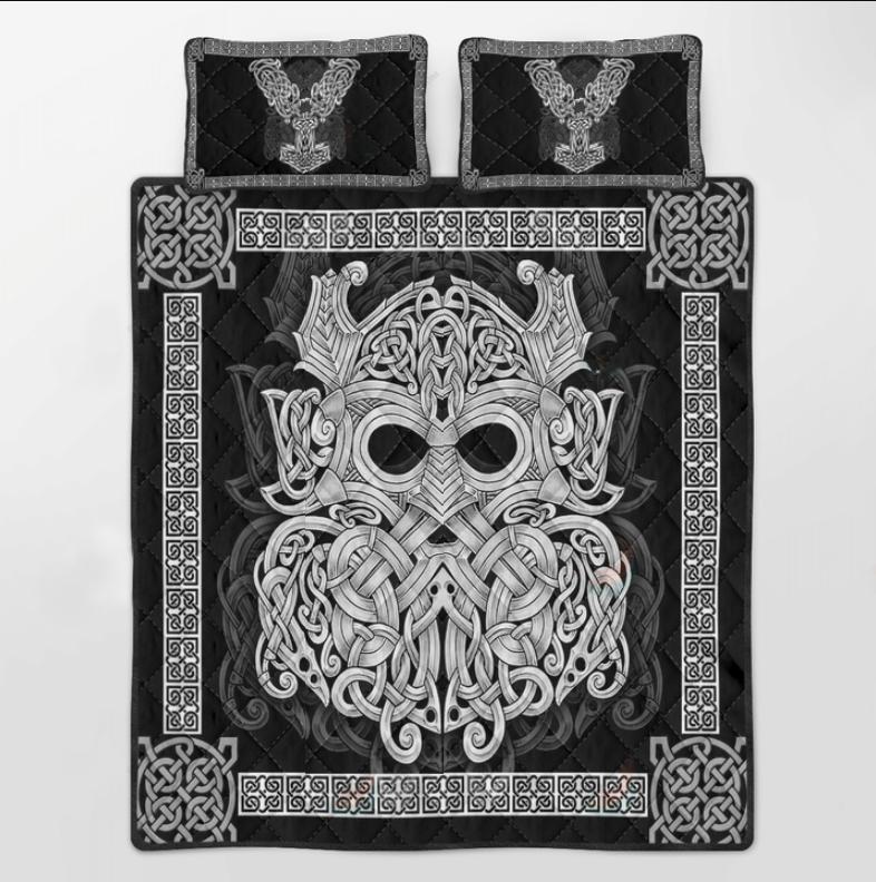 Viking mjolnir Odin bedding set3
