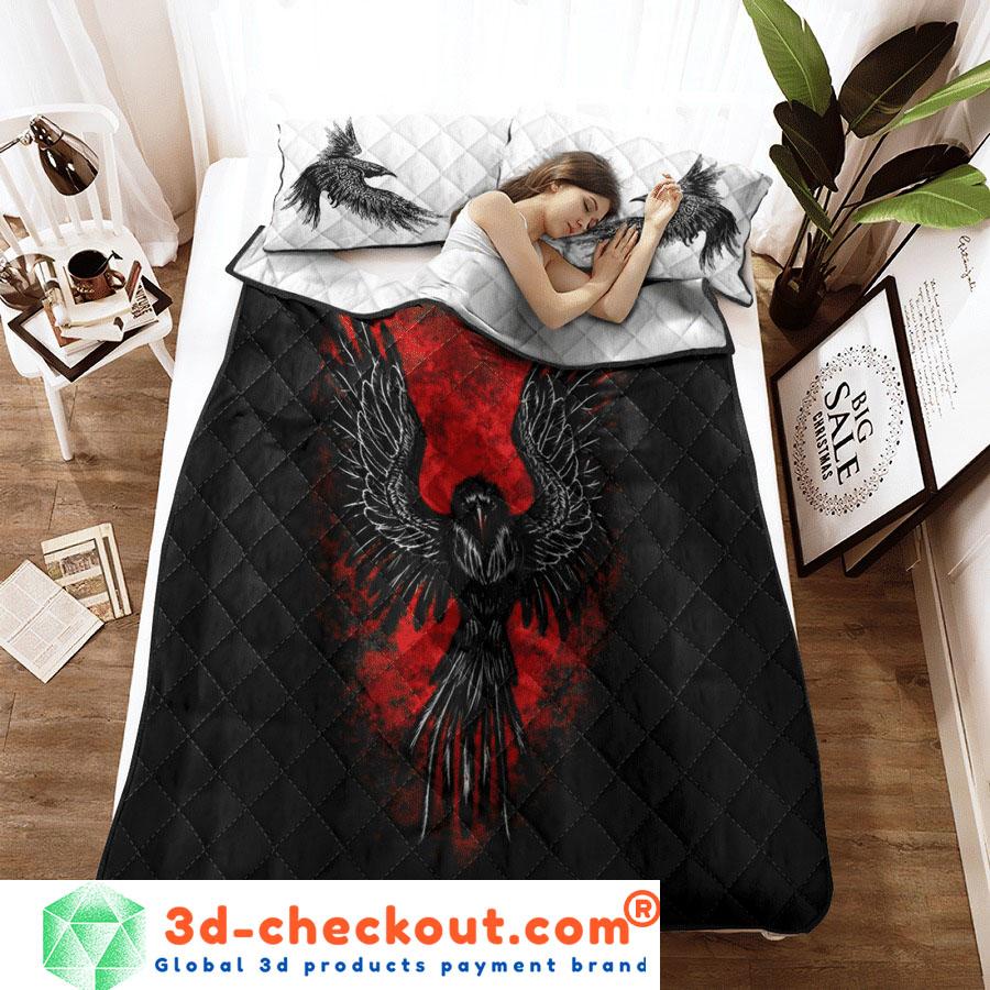 Viking raven bedding set2