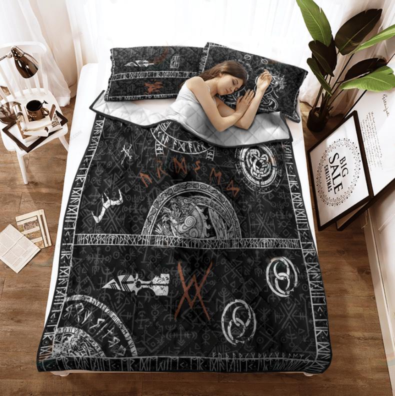 Viking tattoo bedding set2