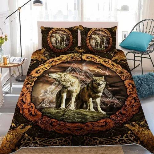 Viking wolf bedding set2