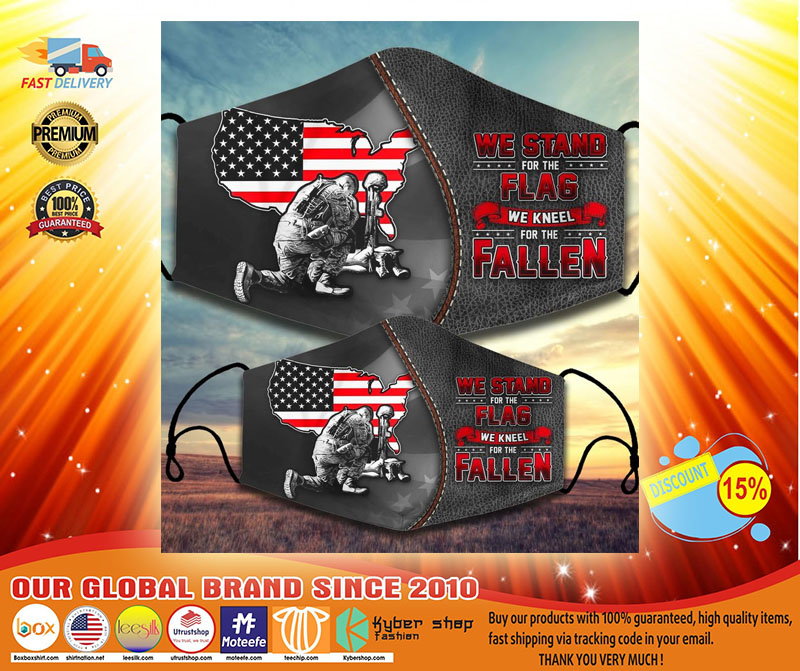 We stand for the flag we kneel for the fallen facemask3