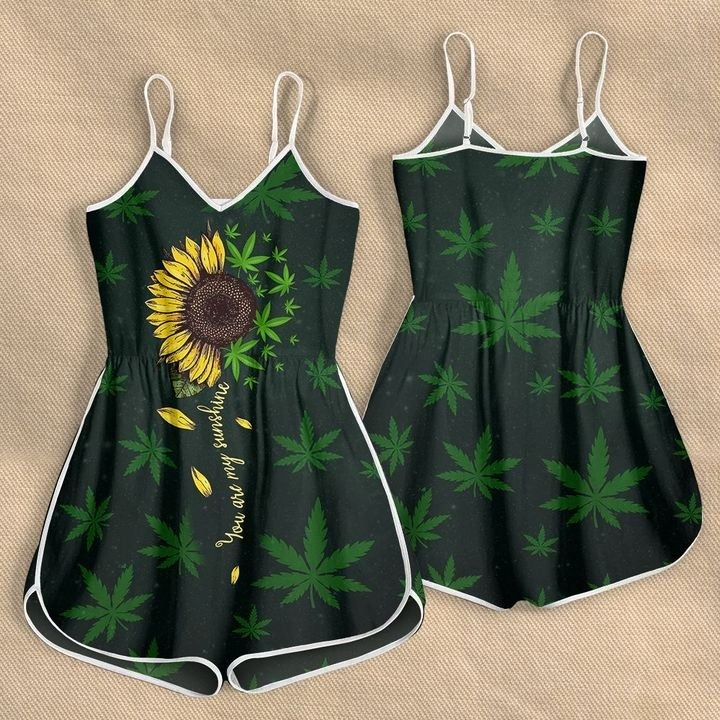 Weed you are my sunshine rompers3