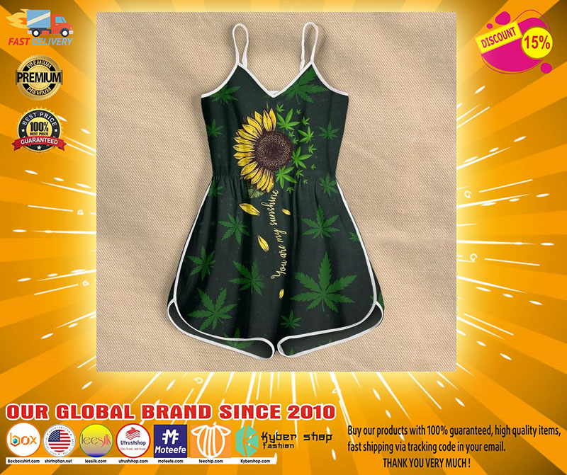 Weed you are my sunshine rompers4