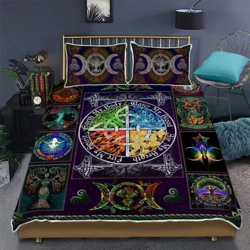 Wiccan witch pagan bedding set2