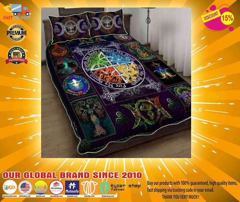 Wiccan witch pagan bedding set4