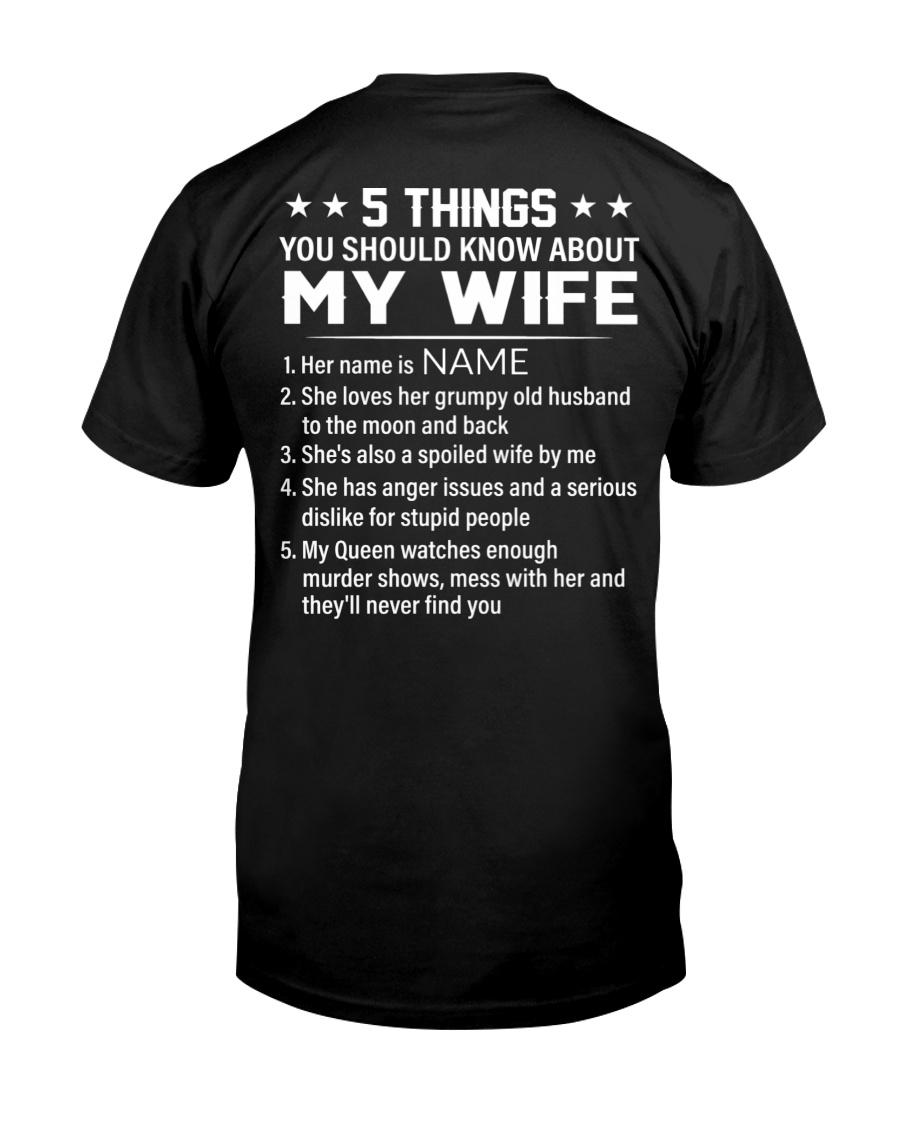 5 Things You Should Know About My Wife Shirt4