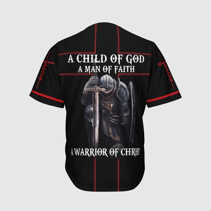 A child of god a man of faith a warrior of christ baseball jersey4