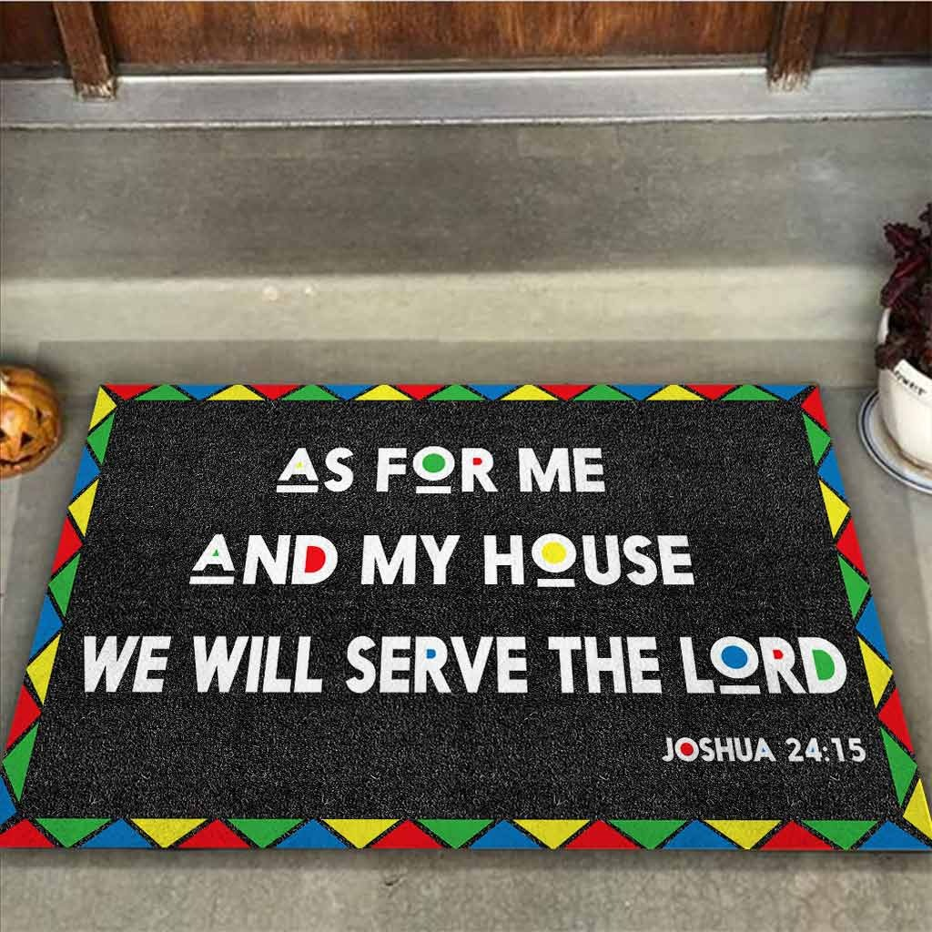 AS for me and my house we will serve the lord doormat2 1