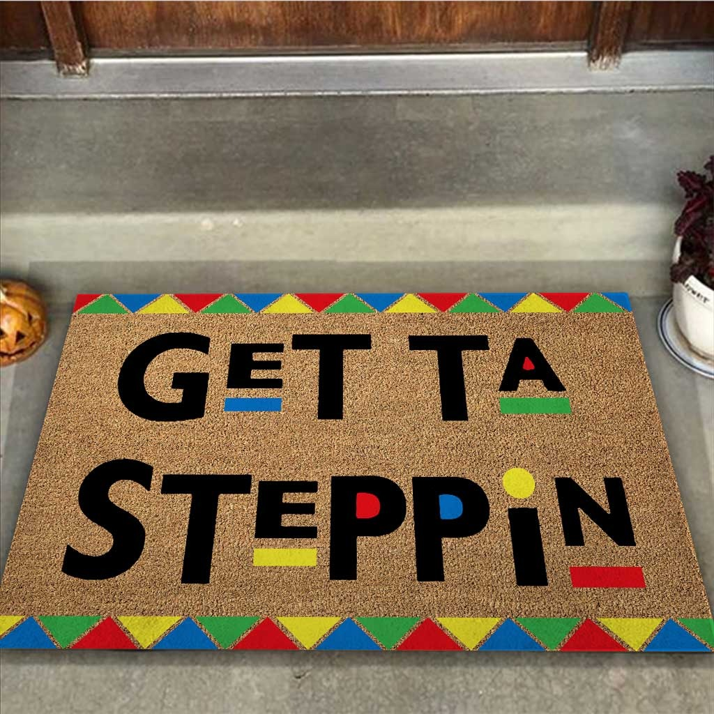 African American Get ta steppin doormat2