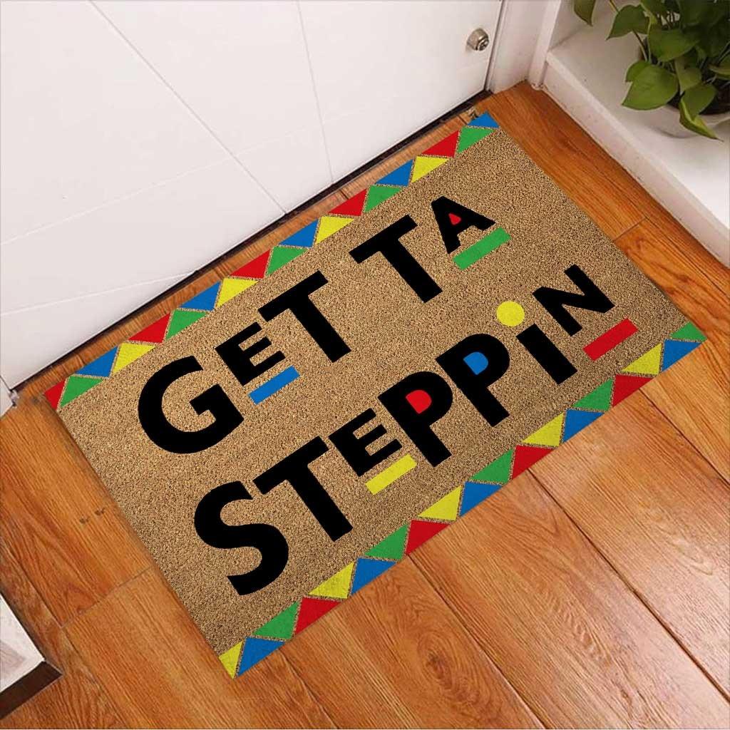 African American Get ta steppin doormat3
