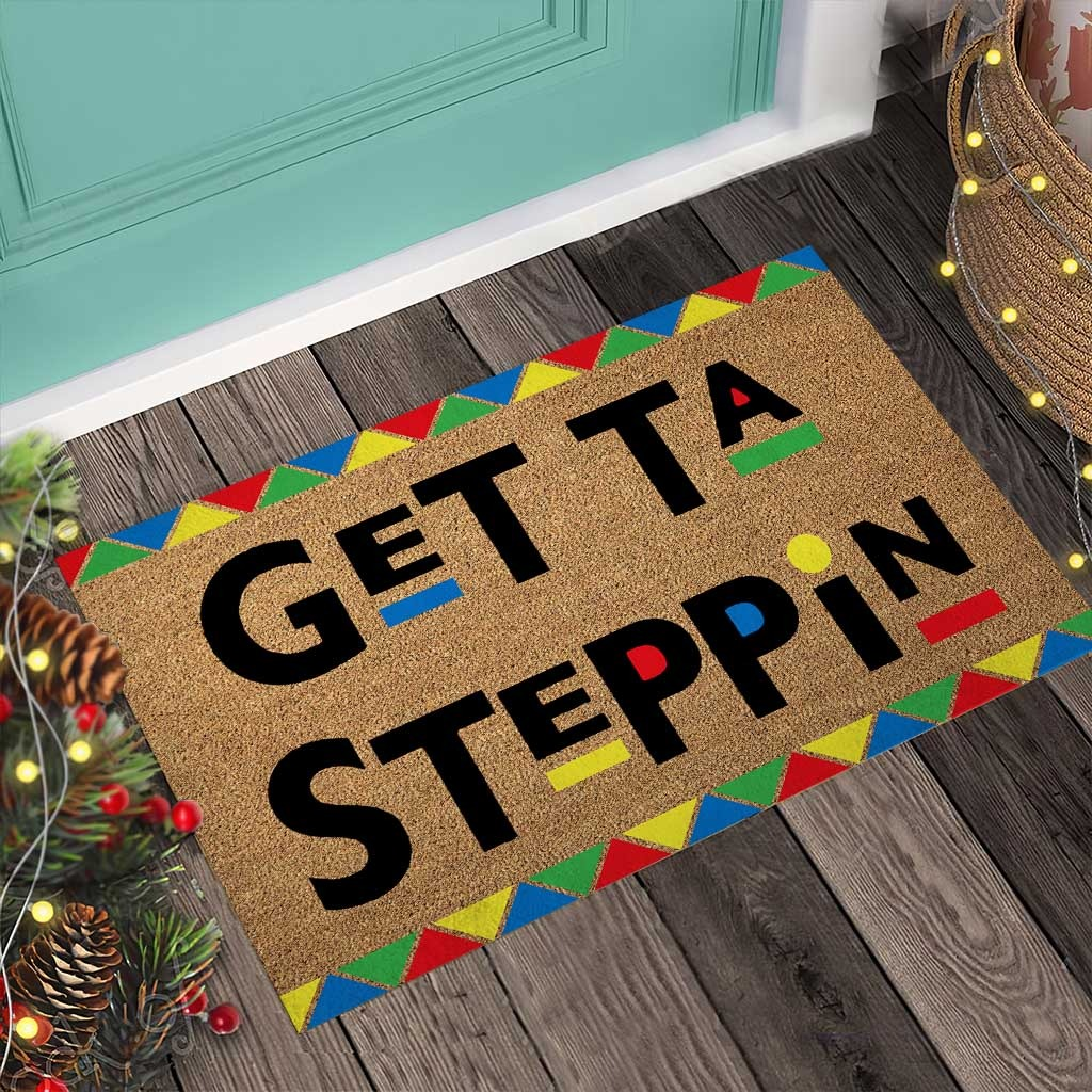 African American Get ta steppin doormat4