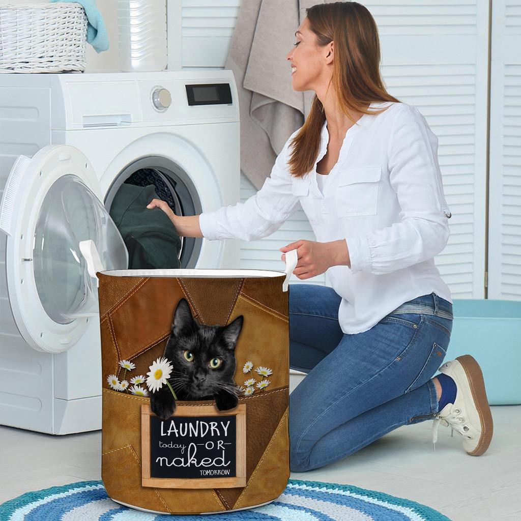 Black cat basket laundry4