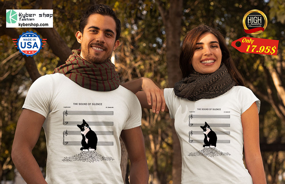 Black cat the sound of silence shirt7
