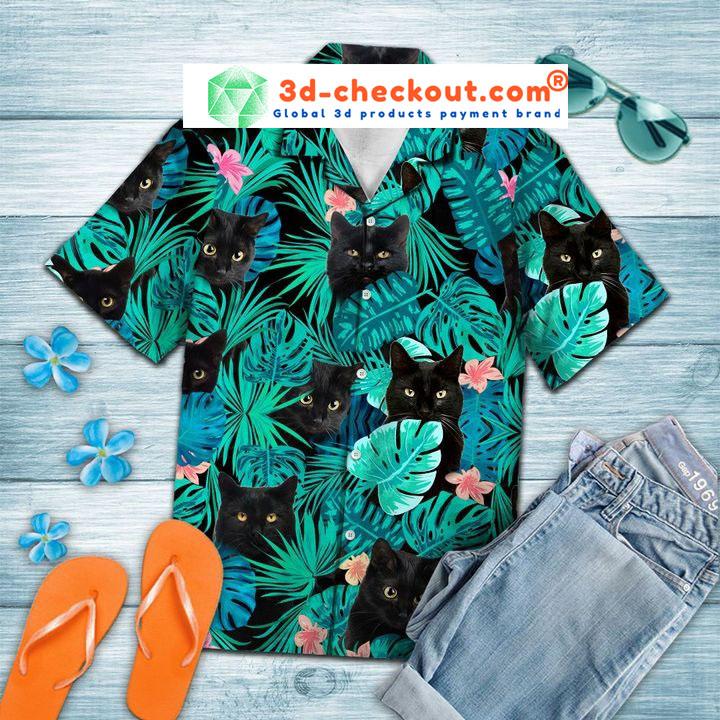 Black cat tropical hawaiian2